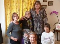 Penny, Beryl, Hannah, Rebecca and Judi