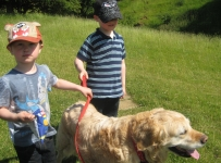 Riley, Jake and Molly at Burton Dassett Country Park