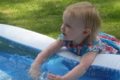 Annabelle & the paddling pool