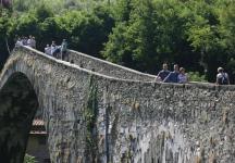 Ben, Adam and Mum on the Devil\'s Bridge