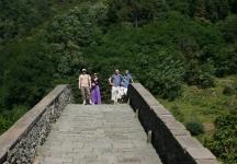 Nick, Lucy, Ben and Adam on the Devil\'s Bridge