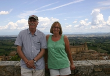 Greg and Penny at San Gimignano