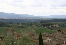 The view from San Gimignano