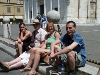 Lucy, Nick, Penny and Adam in Lucca