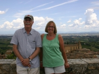 Greg and Penny at San Gimignano